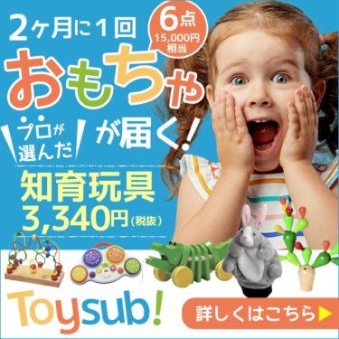【トイサブ!】知育玩具の定額レンタルサービス(子供の年齢でカスタマイズ)のキーポイント