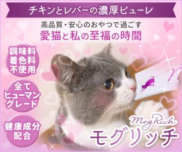 【モグリッチ】健康と安心に配慮したネコちゃん用とろ~りおやつ丸わかり