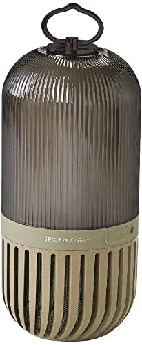 奇跡のSPICE OF LIFE(スパイス) ゆらぎカプセルスピーカー カーキ Bluetooth 防塵 防水 LED 充電式 CS2020KH