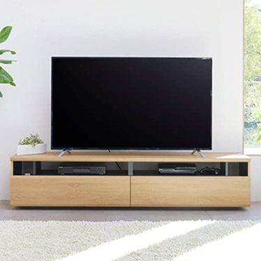 白井産業 大型テレビ台 50から60インチ対応  ラモリア RAM-4018H NA ナチュラルブラウン 幅180cmの弱点
